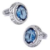 Gemelli francesi 810 della camicia dei monili di cristallo blu degli uomini di VAGULA