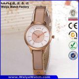 Wristwatch повелительниц кварца кожаный планки способа роскошный (Wy-103B)