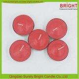 Círio Tealight de vermelho e saquinhos