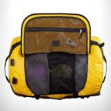 Желтый ПВХ Водонепроницаемый цилиндрический приключений на открытом воздухе в рюкзак Duffel Bag