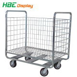 Wheels를 가진 최고 Quality Nestable Zinc Roll Cage Cart