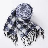 Caxemira das mulheres como listra clássica o lenço feito malha do xaile da impressão do inverno (SP305)