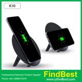 Chargeur sans fil de Qi rond de stand du trépied K10 pour l'iPhone de Samsung