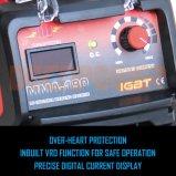 세륨 승인되는 140AMP MMA 변환장치 용접공 쉬운 아크 용접 기계