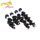 インドの寺院の毛の自然な未加工卸し売りインドのRemyの毛