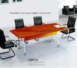 Büro-Schreibtisch mit chromiertem Edelstahl-Bein-modernem Konferenztische