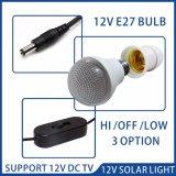 Sistema eléctrico solar de la TV con el bulbo de 4 LED y el cargador del teléfono celular