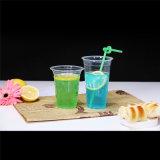Design personalizado de parede simples copo de sumo de plástico descartáveis
