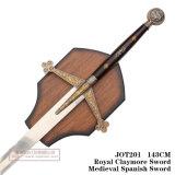 Espadas medievais da decoração das espadas da espada espanhola real da espada de Claymore 143cm Jot201