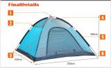 Draußen orange Einzelzimmerzelt, doppelte Schicht 4 Jahreszeit-Zelt