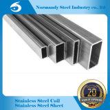 304 soldados de acero inoxidable tubo rectangular para la decoración