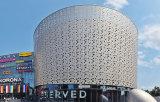 Mur rideau en aluminium panneau composite aux couleurs métalliques