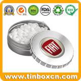 Dom Ronda de embalagens de metal personalizado Clique Clack Candy Mint Estanho