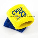 Wristband giallo del tovagliolo del cotone ricamato marchio su ordinazione dei prodotti dell'OEM della fabbrica