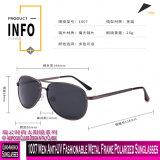 1007 homens anti-UV na moda óculos polarizados com estrutura metálica