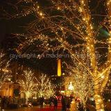 暖かい白LEDの照明繊維の通りのクリスマスの屋外の豆電球