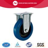 6 Zoll-Schwenker-blauer Gummieuropa-Typ industrielle Fußrollen