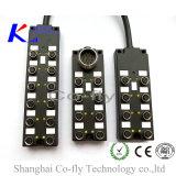 3개을, 4, 5, M23 M8 12 에 주조한 접속점 종료 상자를 가진 6 Pin 향한다