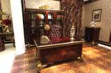 Pittura e parti antiche di lusso italiane di lucentezza di legno solido l'alte hanno coperto lo scrittorio di scrittura della stagnola di oro