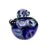 Tubo azul de la mano del tubo del tubo que fuma del tubo de cristal de la cuchara