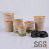 Desechables vasos de papel de pared simple con el fabricante de tapas