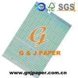 papel de carta de los 63mm*30m Ctg para la máquina de 3-Channel Fx-2155