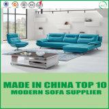 Mobília contemporânea moderna do sofá do couro genuíno da sala de visitas