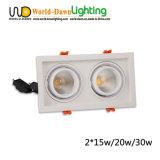 2*15W 2 la griglia del soffitto messa testa LED giù si illumina