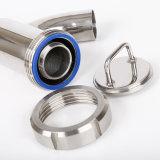 Igienico sanitario dell'acciaio inossidabile 304/316L del commestibile saldato/ha premuto/filtro filettato dal gomito