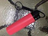 BPA geben das einzelne Wand-Silikon frei, das Plastikwasser-Flasche mit Firmenzeichen faltet