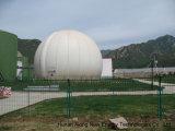 Une usine de biogaz à un élevage de poulets