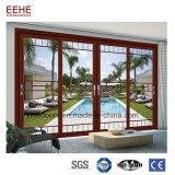 Porte coulissante en verre en aluminium de porte en verre en aluminium de salle de bains de l'Ethiopie