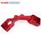 Précision usinés CNC rouge personnalisé de pièces en aluminium anodisé