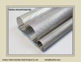 Pipe perforée d'acier inoxydable de silencieux d'échappement de SS304 63.5*1.2 millimètre
