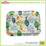 Plateaux mats de mélamine de fini d'impression polychrome de cadeaux de promotion