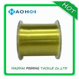 Gele Monofilament van de Lijn van de Kleur hallo-Vis Nylon Vislijn