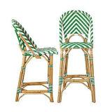옥외 가구 프랑스 작은 술집 합성 길쌈된 등나무 다방 의자