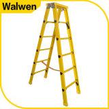 Nieuwe Komende Gele Glasvezel 4 Stap paste de Geïsoleerde Ladder van de Stap aan FRP
