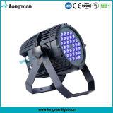Exterior IP65 de alta potencia 36*3W UV LED DMX de Luz PAR