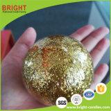 Regalo di scintillio dell'oro piccola candela della sfera per natale