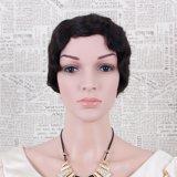 Новая конструкция оптовой коротких вьющихся волос человека Wig женщин Реми скручивание волос парики