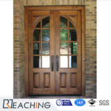 Portello di legno d'acciaio di vetro di stile rustico per di qualità superiore personalizzato