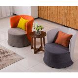 El color de tela Monoplaza recepción pública sofá para mesa de café