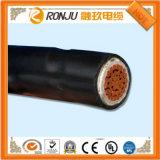 O PVC Sheathed o cabo flexível do controlador, XLPE isolado, condutor de cobre, trançar protegido