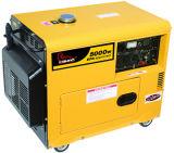 9HP、4800W CEの承認4.8キロワットサイレントディーゼル発電機(WH5500DGS)