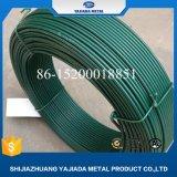 Fil vert enduit de bride de fixation de PVC pour le tissu