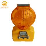 Solar LED visible de alta parpadear las luces de advertencia de construcción de carreteras