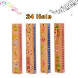 Giocattoli educativi dell'armonica 24 del foro dei bambini del regalo di legno degli strumenti musicali