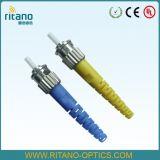Conetor ótico da fibra do St da palavra simples 3.0mm da manutenção programada com alta qualidade