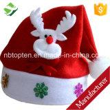 Copricapo unisex della protezione del Babbo Natale del capretto adulto caldo molle accogliente della Santa Red Hat di natale